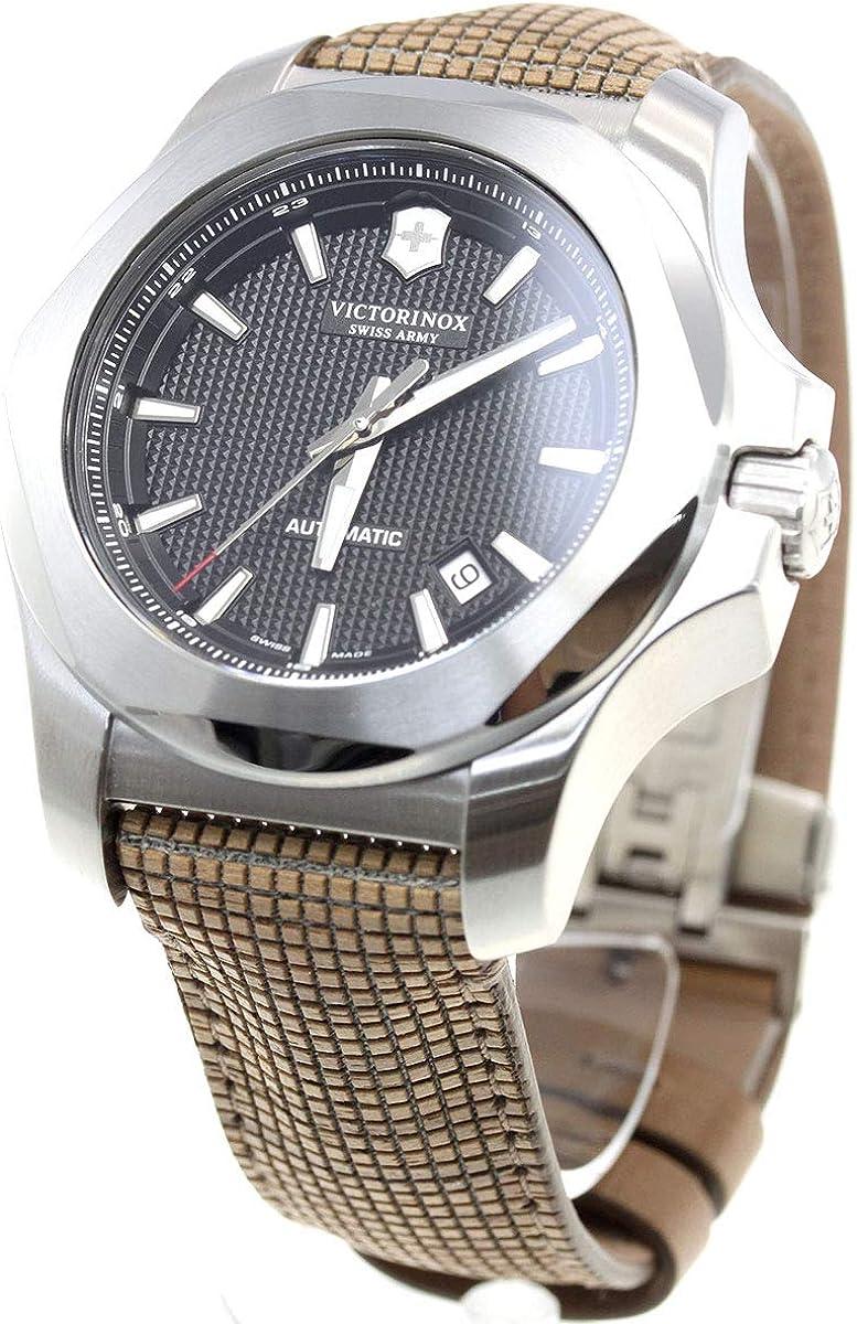 Victorinox Swiss Army 241836 Men's I.N.O.X. Mechanical Black Dial Strap Watch
