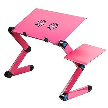 Lacaca ajustable con ventilación atril para libro de mesa para portátil portátil escritorio para ordenador Bandeja