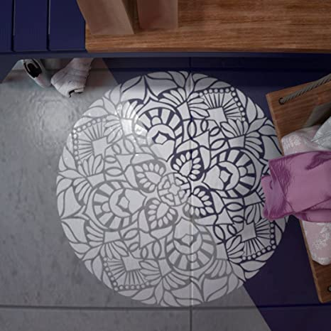 Mandala Floor Stencil Medallion Floor Painting Stencil Wall
