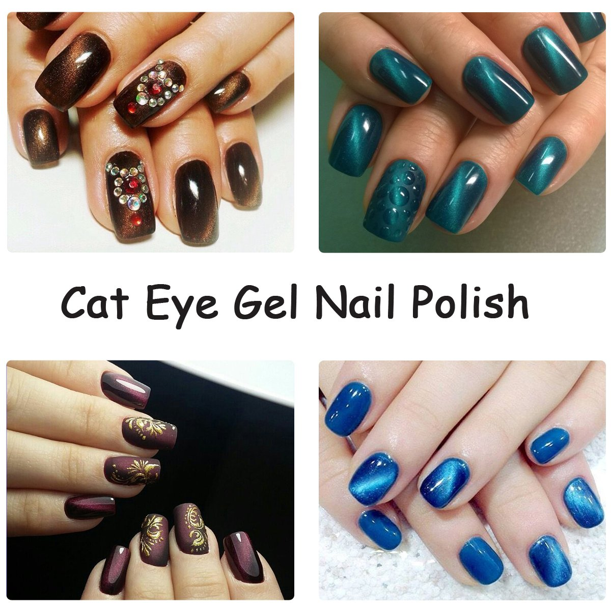 Amazon.com : Perfect Summer Cat Eye Gel Nail Polish - UV/LED Soak ...