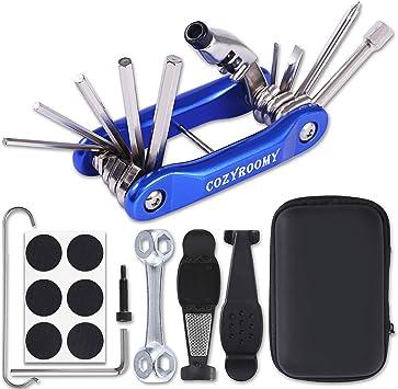 COZYROOMY Kit Reparación Herramientas Bicicleta,10 en 1 ...