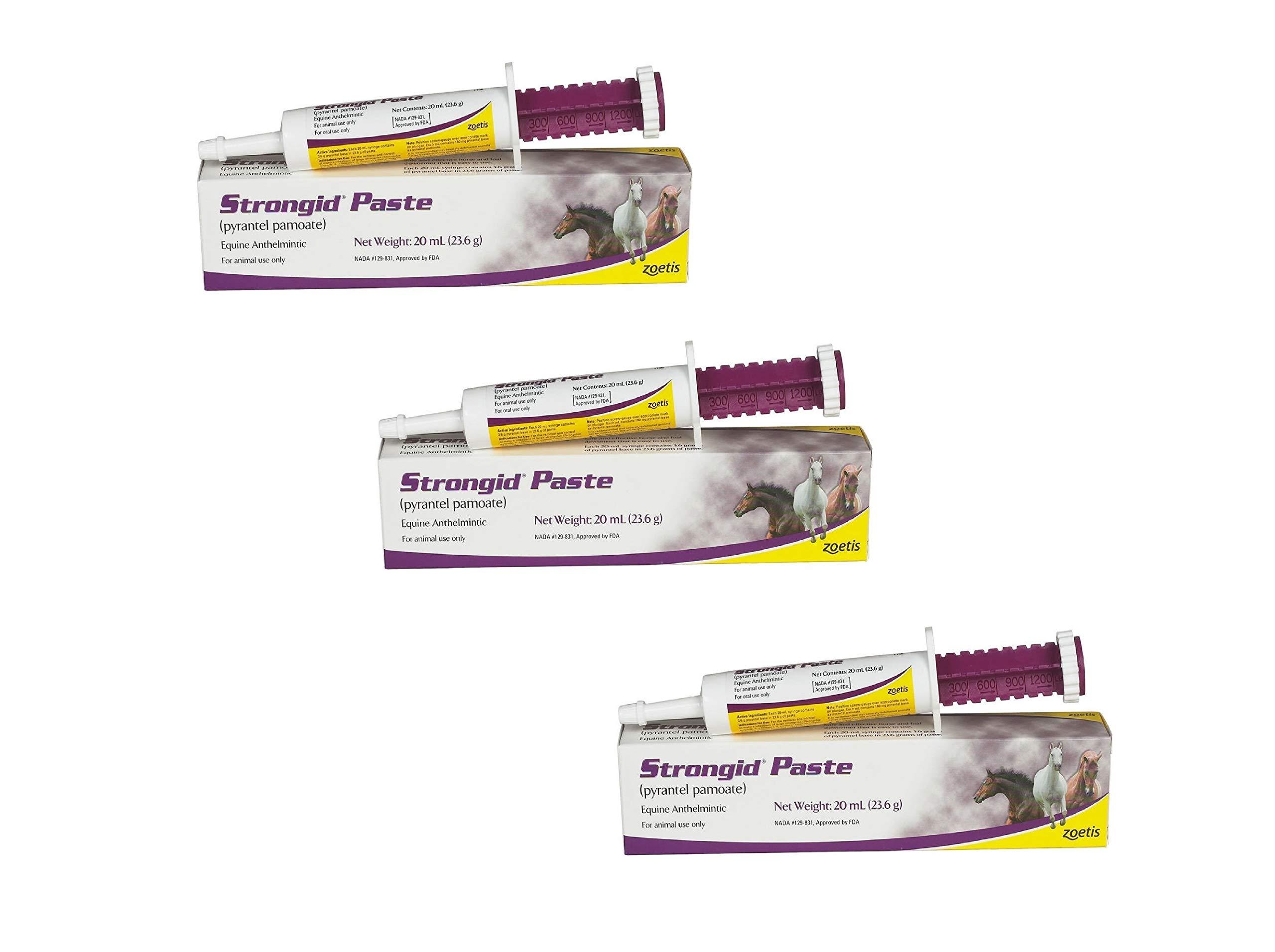 Pfizer Strongid Dewormer Paste for Horses, 23.6gm (3 Pack)