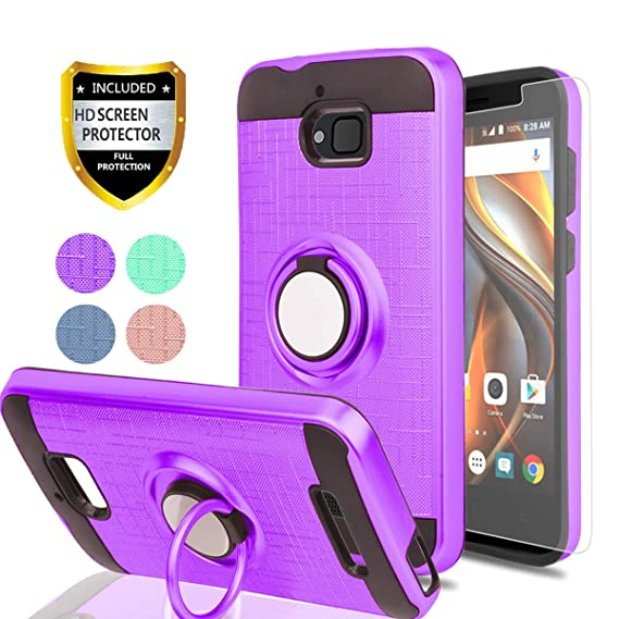 premium selection 75122 0b4e2 Ymhxcy For Coolpad Defiant Phone Case With HD Screen Protector,360 Degree  Rotating Ring & Bracket Dual Layer Resistant Back Cover For Coolpad  3632A-ZH ...