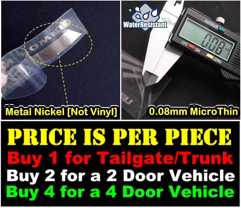 Not Vinyl Nismo Racing Technology Chrome Black Car Door Sill Scuff Plate Decal Badge Emblem Step Board Bumper Sticker Side Trunk Handle Auto Ultra Thin Nickel Metal 4229CHBK-S TOTUMY 100x18mm
