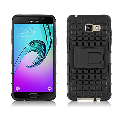 acheter maintenant où puis je acheter 100% qualité garantie Samsung Galaxy A5 2016 Case, JAMMYLIZARD [ALLIGATOR] Double Protection  Rugged Back Cover, Black
