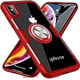iPhone XSMAX ケース リング 透明 磁気カーマウントホルダー スタンド メッキ柔らかい殻 滑り防止 耐衝撃カ 360度回転 落下防止 薄くて軽い TPU 全面保護 一体型 人気 携帯カバー 指紋防止 防塵 高級なカーボン風 スクラッチ防止 MJJ-SJ-1045-5-2