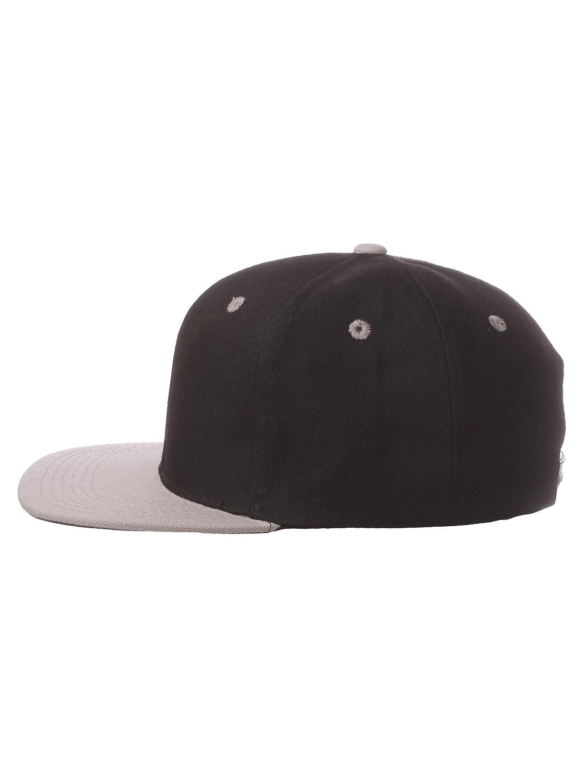 Premium Children Kids Snapback Flat Brim Bill Adjustable Adjustable Back Cap Hat 4-9 yrs