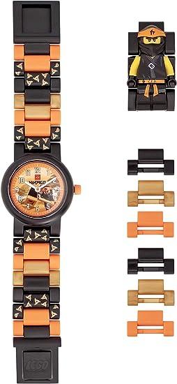 ClicTime Boys LEGO Ninjago Analog Quartz Watch with Plastic Strap, Black, 18 (Model: 8021728)