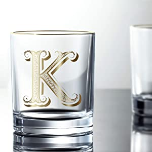 K Anniversary Wedding Whiskey Glass for Men/Dad/Son, Vintage Unfading 24K Gold Hand Crafted Old Fashioned Whiskey Glasses, Perfect for Gift and Home Use - 10 oz Bourbon Scotch, Party Decorations