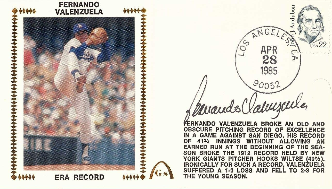 Fernando Valenzuela Signed Autographed First Day Issue Cachet Dodgers w/COA