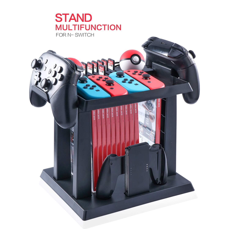 Storage Stand for Nintendo Switch, Storage Stand Controller Holder for Nintendo Switch Accessories and 2 Poke Ball Plus…