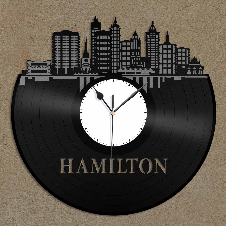 Hamilton wall clock Schoolhouse Amazoncom Vinylshopus Hamilton Canada Vinyl Wall Clock City Skyline Unique Gift Room Home Decoration Home Kitchen Amazoncom Amazoncom Vinylshopus Hamilton Canada Vinyl Wall Clock City