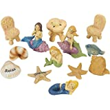 Juvale 13 Piece Garden Fairy Kit – Mermaids Miniature Resin Figurines Accessories, Decorative Spring Flower Garden Ornaments Outdoor, Lawn Home Decoration