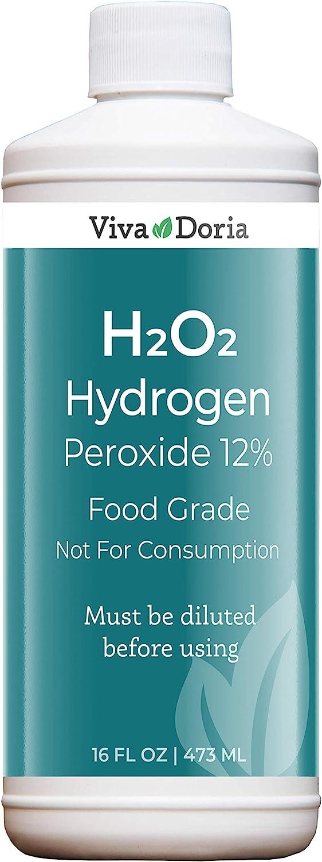 Viva Doria 12% H2O2 Hydrogen Peroxide - Food Grade, 16 fl Oz