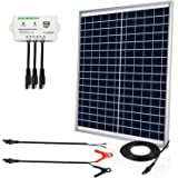 ECO-Worthy [Upgraded] 25 Watts 12V Off Grid Solar Panel SAE Connector Kit: Waterproof 25W Solar Panel + SAE Connection…