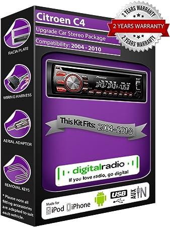 Citroen C4 DAB Radio Estéreo del coche Pioneer DEH-X6600DAB ...