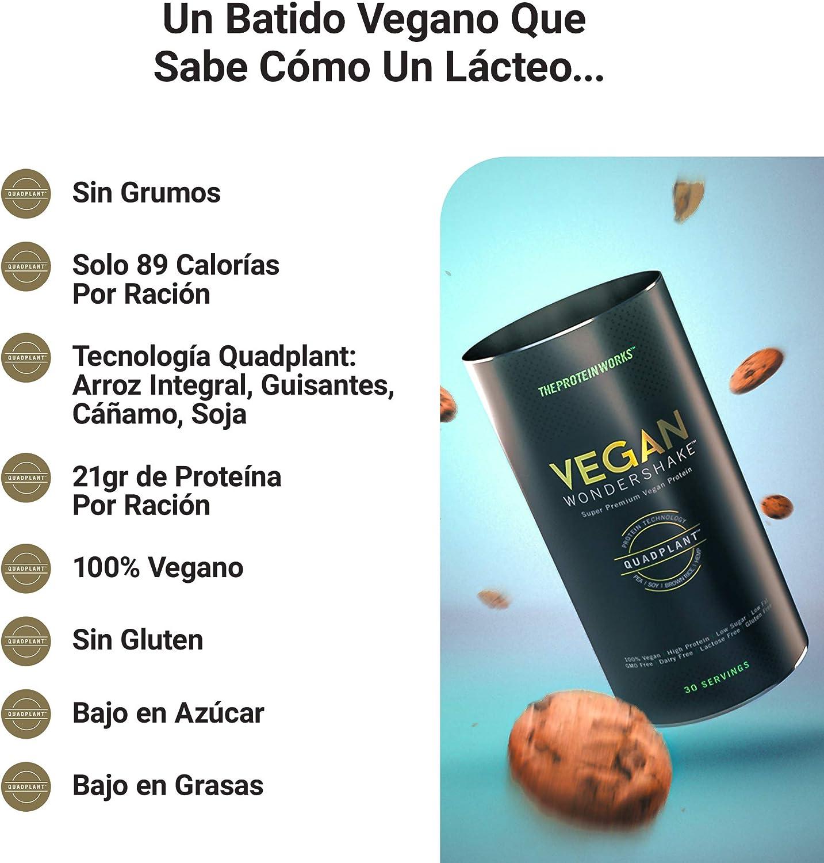 Vegan Wondershake Proteico | 100% Vegano, Combinación De Proteínas QuadPlant™, Batido En Polvo Libre De OGM | THE PROTEIN WORKS, Chocolate Blanco y ...