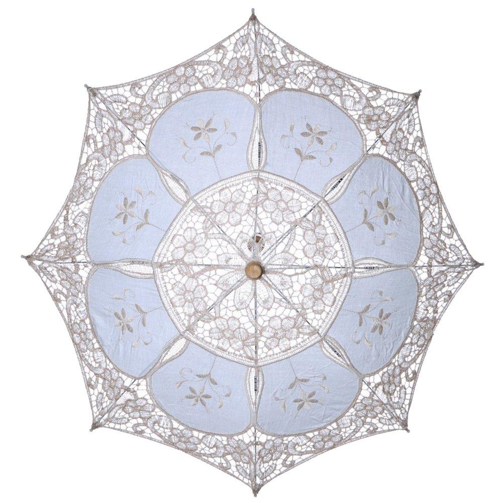 Tracfy Lace Craft Umbrella Vintage Parasol Bridal Wedding Photography Umbrella