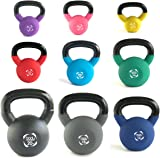 Body Revolution Neoprene Kettlebell – Rubber Coated Cast Iron Kettlebells (2kg to 24kg)