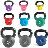 Body Revolution Neoprene Kettlebell – Rubber Coated Cast Iron Kettlebells (2kg to 24kg)