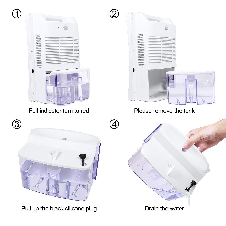 LATITOP Luftentfeuchter mit 2000 ml Wassertank, Luftreiniger mit großer Kapazität, Automatische Abschaltung Leiser Betrieb für feuchte Luft, Feuchtigkeit, Staub, leise automatische Abschaltung für Schlafzimmer Großer Raum Keller (430 m²)