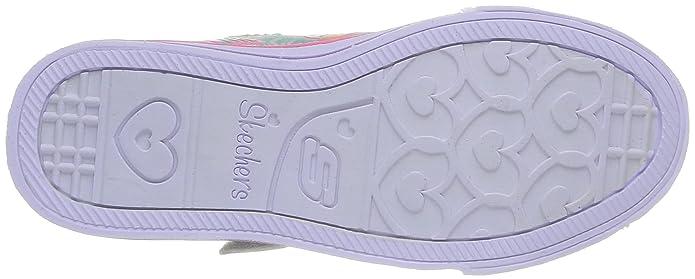 Skechers Shuffles Glow Girl, Baskets mode fille, Argent