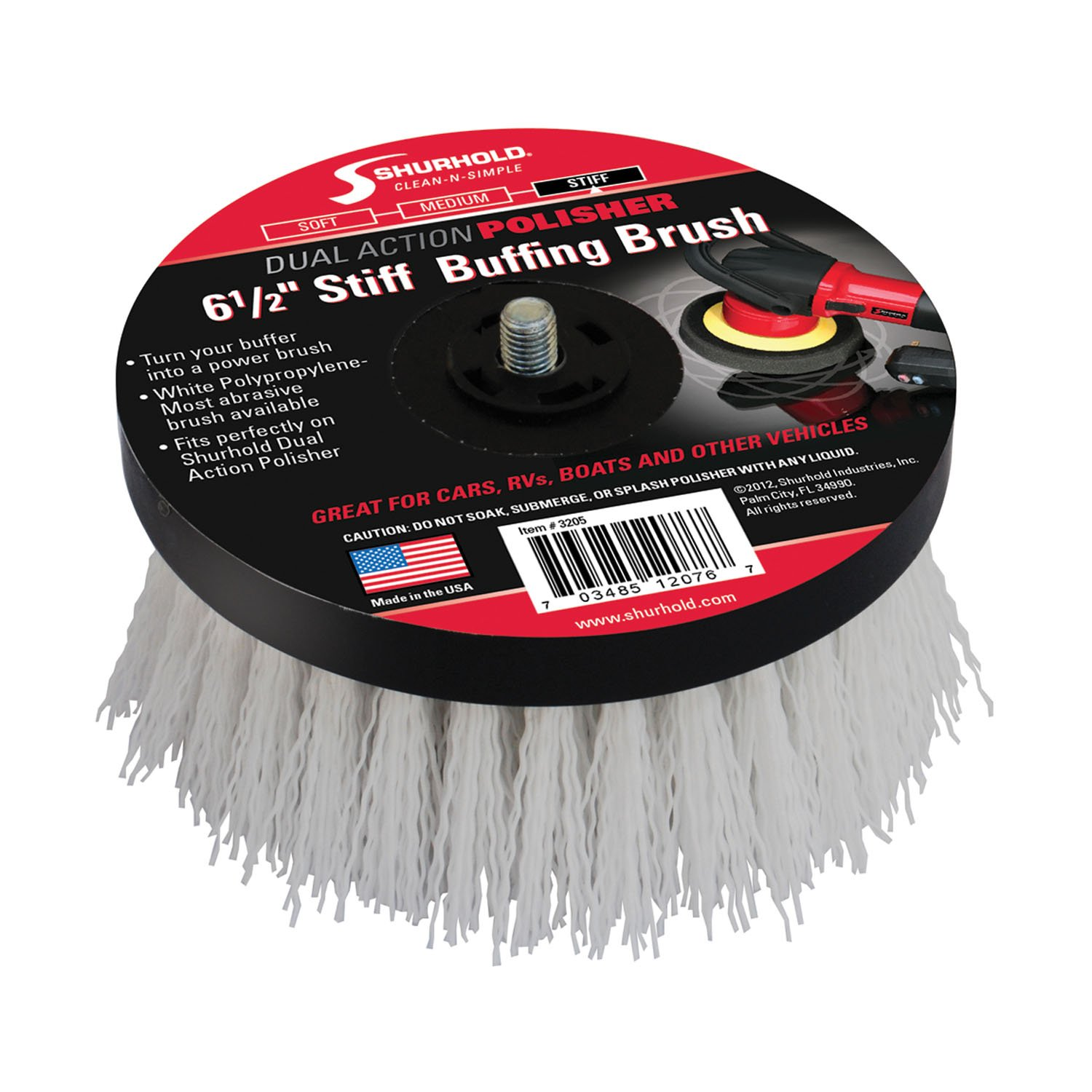 Shurhold 6-1/2'' Stiff Brush For Dual Action Polisher by Shurhold