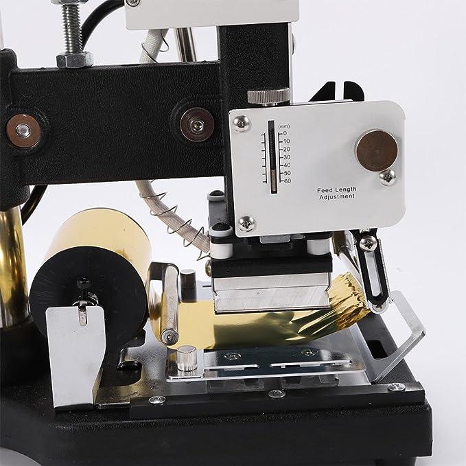 Máquina de estampado en caliente de papel laminado en caliente Estampado en caliente 300 W Cuero Plástico Craft DIY Impresión Máquina de bronceado: Amazon.es: Juguetes y juegos