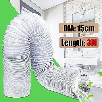 SHI-Y-M-KT, 3 Metros Tubo de Escape Repuestos de Aire Acondicionado Flexibles Tubo de Escape Manguera de ventilación Salida de 150 mm Conducto de ventilación Manguera de ventilación: Amazon.es: Hogar