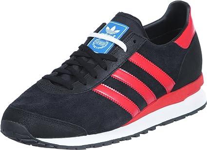 Loza de barro toque Querido  Amazon.com: adidas Marathon 85 Schuhe Black-hi-res red-Black - 42: Sports &  Outdoors