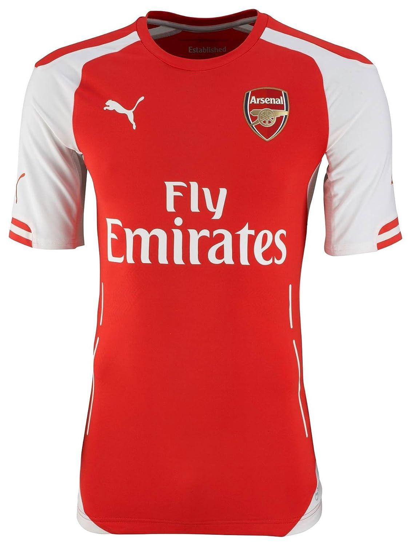 wholesale dealer 977fc e46da Puma Rosicky #7 Arsenal FC Short Sleeve Home Jersey 2015 ...