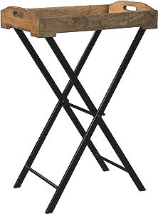 Ashley Furniture Signature Design - Cadocridge Tray Table - Casual - Brown/Black