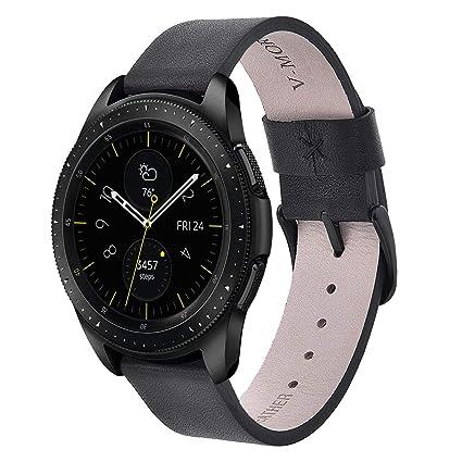 Amazon.com: V-MORO - Correa de piel compatible con reloj ...