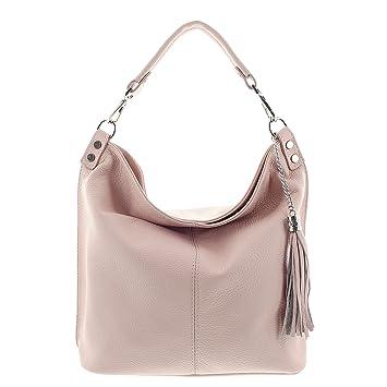 564678110522c MIO echt Leder Handtasche Damen Handtaschen Schultertasche Shopper Tasche  Umhängetasche Beuteltasche Lederhandtasche