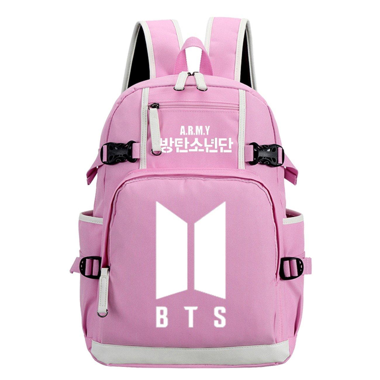 JUSTGOGO Luminous Korean Casual Backpack Daypack Laptop Bag College Bag School Bag (1)