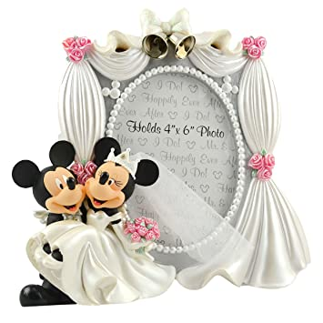 disney parks exclusive mickey minnie mouse bride groom wedding 4x6 photo frame - Wedding Picture Frames