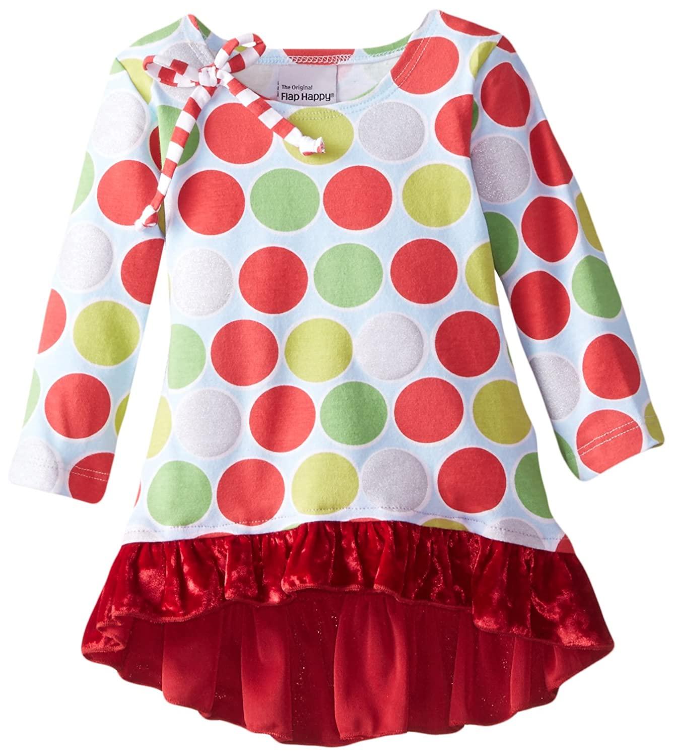 Flap Happy Baby Girls Ashley Hi Lo Print Tunic with Crushed Velvet