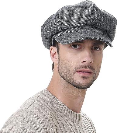 WIM Sombreros Gorras Boinas Bombines Newsboy Hat Wool Felt Simple ...