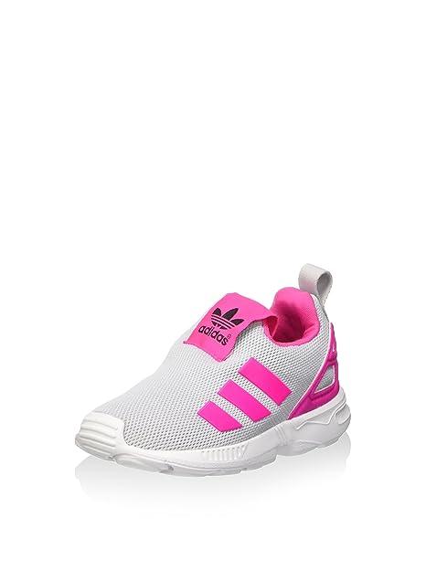 buy online 52926 70e27 adidas Slip-On ZX Flux El I Grigio Rosa Bianco EU 19 (