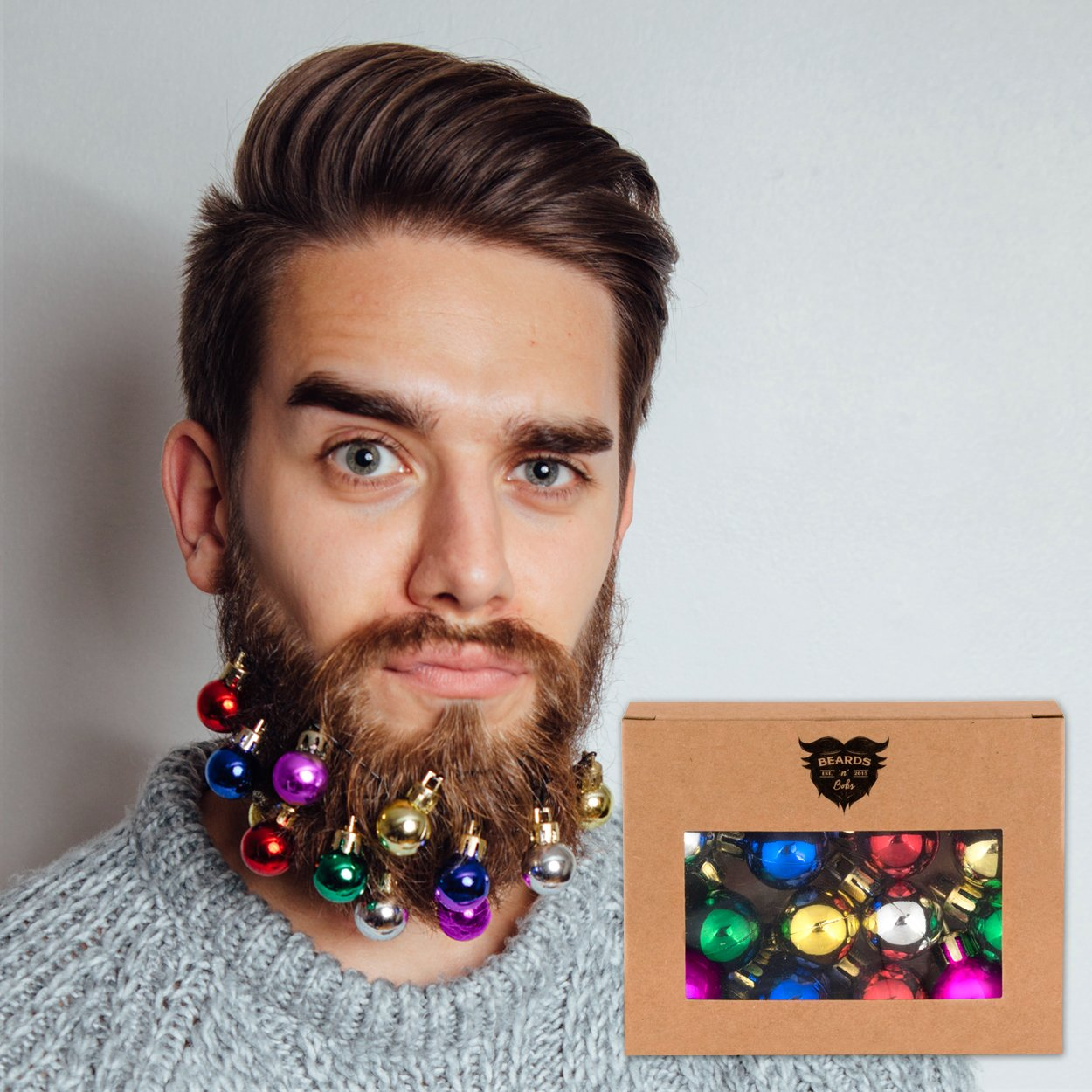 Beards n Bobs Beard Christmas Baubles (12 Pack)