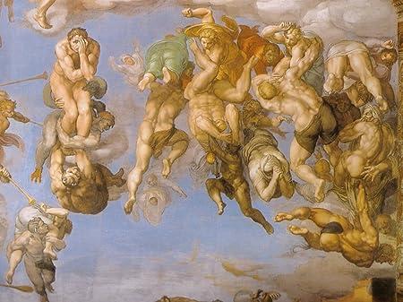 Sistene Chapel Wall Mural Vintage Fine Art Print Michelangelo