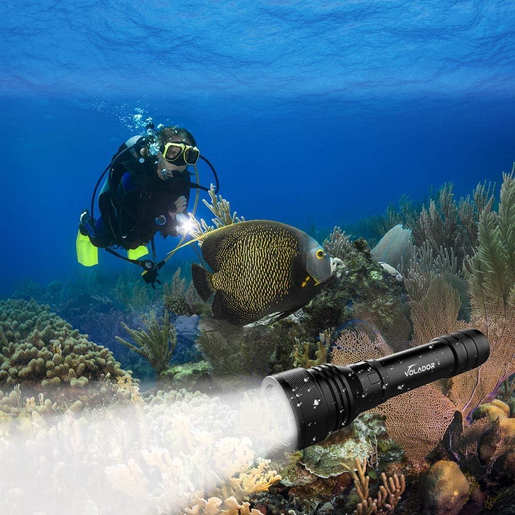 linterna de buceo volador recargable para el buceo profesional