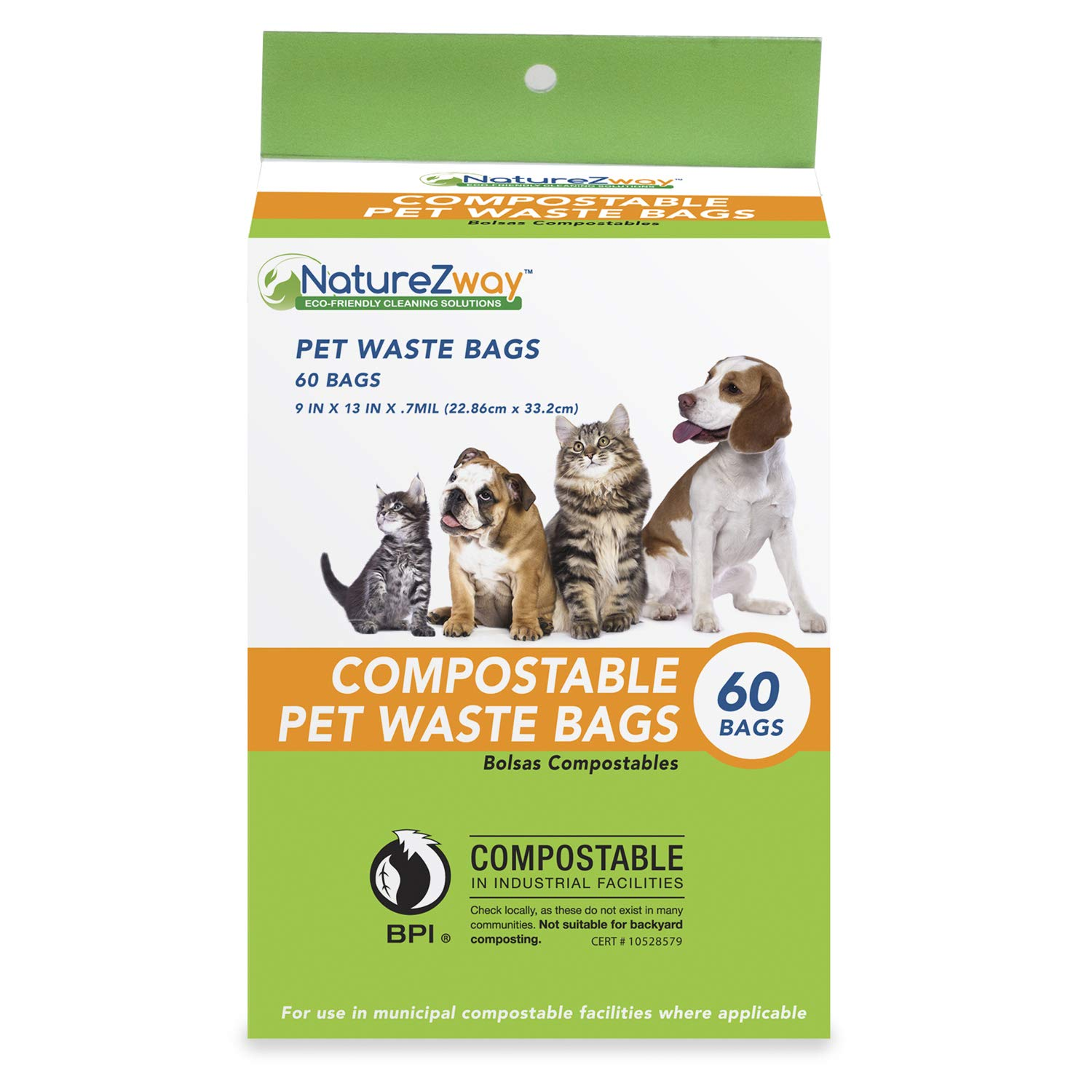 Amazon.com: NatureZway Pet Waste Bags (60 Bags): Industrial ...