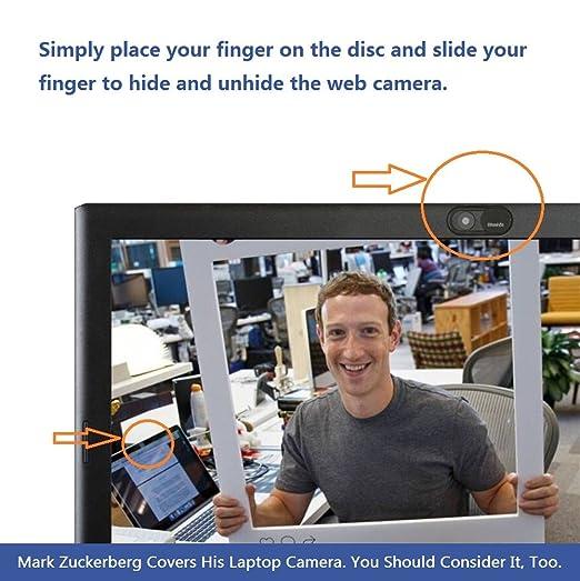 Webcam Cover 0.7mm THIN - Magnet Slider Cubierta de la cámara: Amazon.es: Electrónica