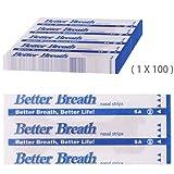 Incutex 100x cerotti nasali per non russare cerotti per naso antirussamento per respirare meglio, taglia M