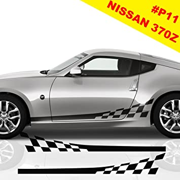 Nissan 350z 370z Sports Side Racing Stripes Decal Graphics Tuning