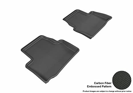 Black All Weather Rubber Cargo Trunk ATS Logo Floor Mat for Select Cadillac