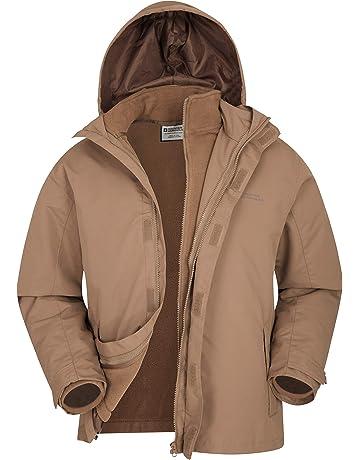 53eae23810bc Mountain Warehouse Fell Mens 3 in 1 Water Resistant Jacket - Adjustable  Hood Mens Coat