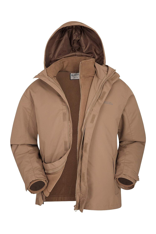 5d6d925fc26 Mountain Warehouse Fell Mens 3 in 1 Water Resistant Jacket - Adjustable  Hood Mens Coat, Detachable Inner Fleece Rain Jacket, Pockets -Spring  Clothing for ...