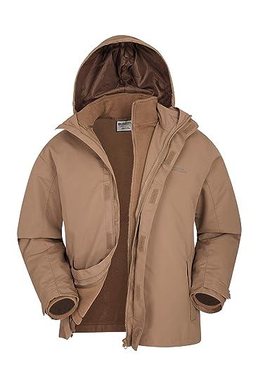 75aa30233 Mountain Warehouse Fell Mens 3 in 1 Water Resistant Jacket - Adjustable Hood  Mens Coat,